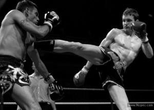 Thai boxing bw