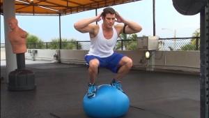 Swiss ball squat